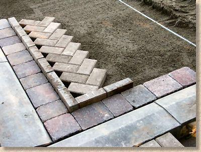 Excellent Tutorial On Laying A Herringbone Pattern Herringbone Brick Pattern Front Yard Landscaping Design Herringbone Pattern