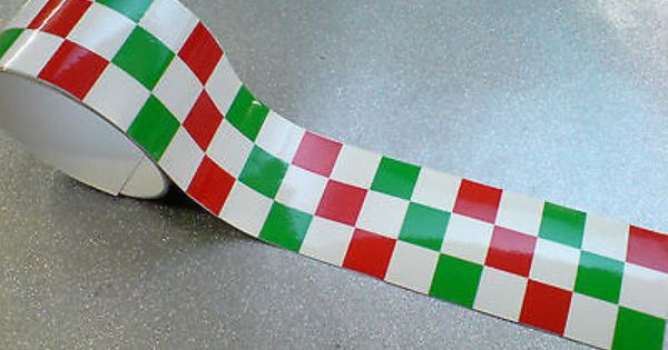Italian Chequered Tape 50 X 2 Strip Laminated For Extra Durability 1 Off Italian Colors Laminate Stripping