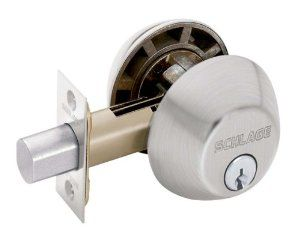 Schlage B362nv619 Double Cylinder Deadbolt Satin Nickel By Schlage Lock Company 30 99 From The Ma Double Cylinder Deadbolt Home Security Tips Home Hardware