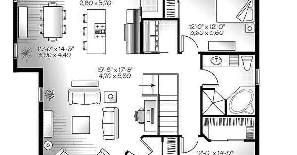One Story House Plans With Open Concept Open Living