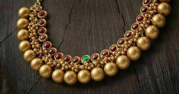 Gold Plated Pure Silver Temple Jewellery 1 Indian