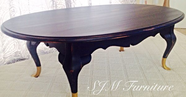 navy blue coffee table with golden feet 120 a beautiful color