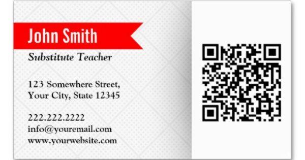 substitute teacher business card template 3slufsluidsprekers