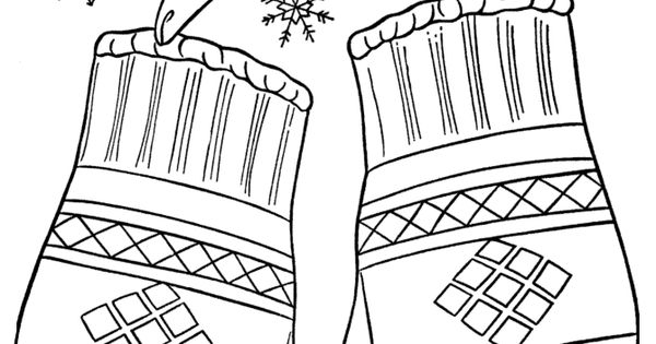 Winter Coloring Pages - Winter Mittens 12