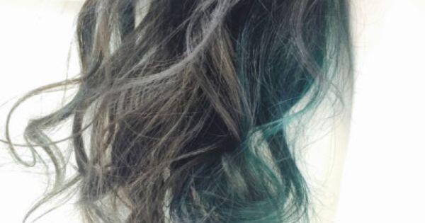 2017 緑の髪色 グラデーション アッシュ ツートーン 市販も 髪 色 ヘアカラー グリーン 髪色 グラデーション