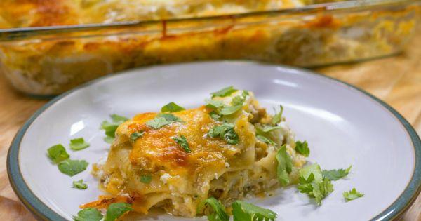 Chicken lasagna, Spicy and Salsa verde on Pinterest