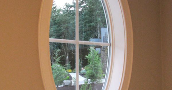 Oval window frame window door trim home extras for Oval window treatment ideas