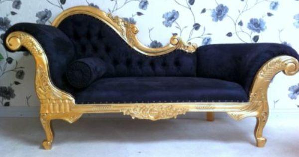 Luis xv chaislongue sofa vintage estilo victoriano - Sillones estilo vintage ...