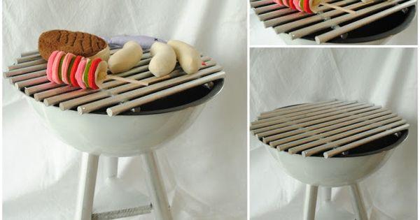 spiel grill selbst bauen diy kindersachen pinterest upcycling felt food and diy toys. Black Bedroom Furniture Sets. Home Design Ideas