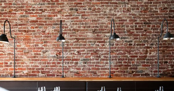 Brick Wall Black Antique Exaggerated Tablepost Lamp
