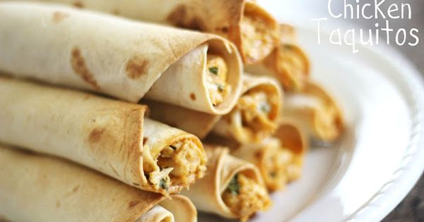 Baked Creamy Chicken Taquitos Recipe (freezer meal)