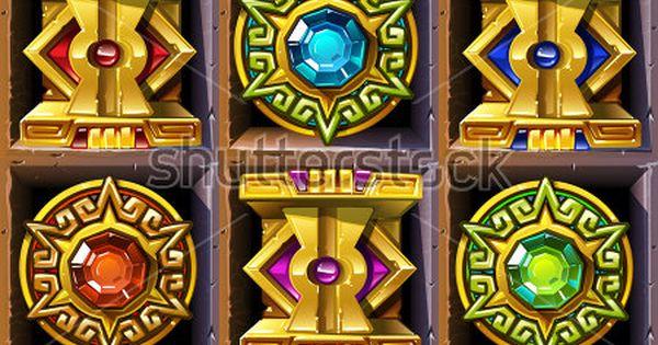 Aztec Styled Colorful Gold Icons For Game Design Traje Tipico De Peru Ilustraciones Juegos
