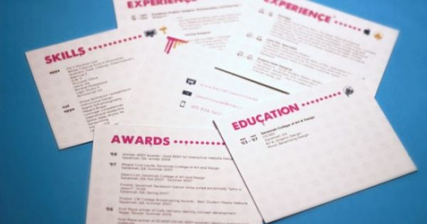 Resume Inspiration Packaging Id Promotion Pinterest