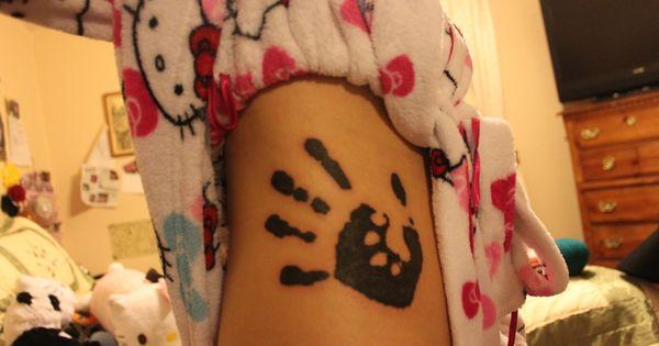 hand print paw print