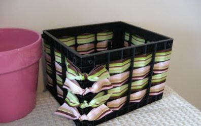 She Takes 2 Ordinary Plastic Crates This Transformation Can Help Absolutely Everyone Milk Crates Diy Crate Crafts Plastic Milk Crates