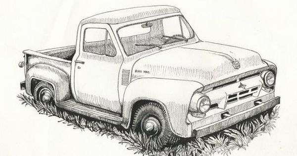 Old Ford Truck Drawing Old Trucks Pinterest Chevy