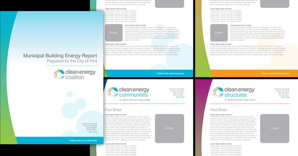 Cec Report Cover And Fact Sheet Templates  BrochureFlyer Design