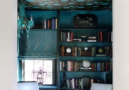 Blue reading area