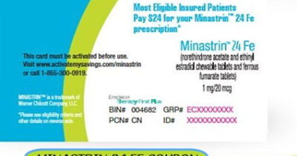 Minastrin 24 birth control coupon