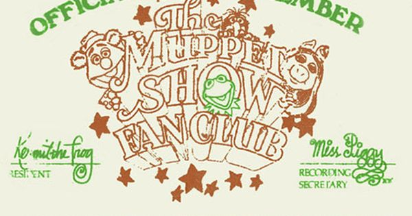 muppet show fan club card design + layouts Pinterest - club card design