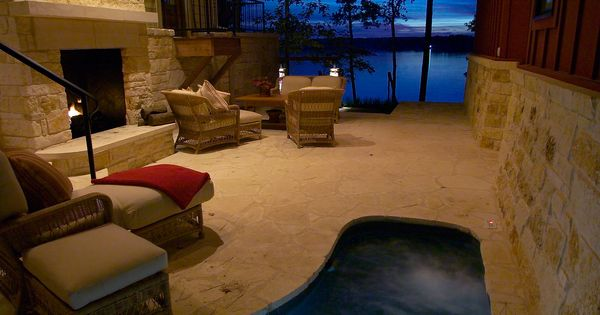 HGTV dream home indoor hot tub + fireplace