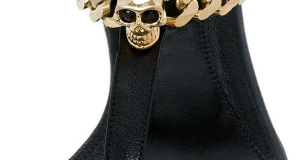 Alexander Mcqueen black city sandal in black   LBV a??a?�