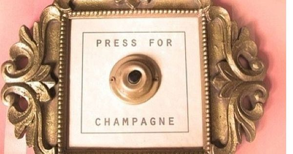 Quot Press For Champagne Quot Gold Frame And Door Bell Classic