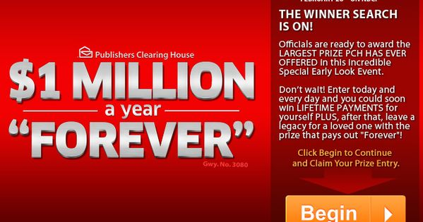 pch online sweepstakes winners list