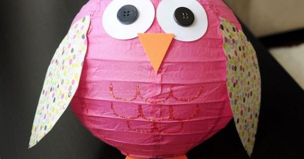 Owl Paper Lantern: Perfect for the owl themes I love so much!
