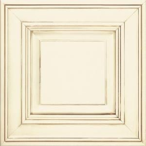 Thomasville Classic Camden 14 1 2 X 14 1 2 In Cabinet Door Sample In Cotton With Toasted Almond 772515380037 The Home Depot Antique White Kitchen New Kitchen Cabinets Antique White Kitchen Cabinets