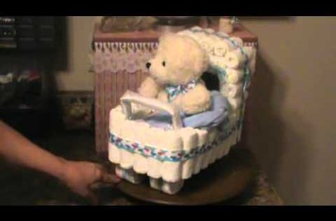 How To Make A Diaper Cake Small Bassinet For Baby Shower