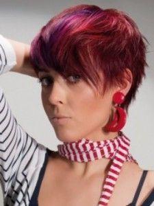 Kurzhaarfrisur Farbe Kurzhaarfrisuren Rot Frisur Rot Und