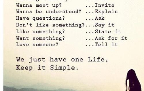 KIS - Keep It Simple!