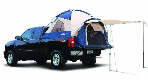 sportz truck tent iii mid size 5 5 feet assembles in the back of your open bed pickup in 10. Black Bedroom Furniture Sets. Home Design Ideas