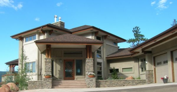 Modern prairie style house when we designed this house we for Contemporary prairie style homes