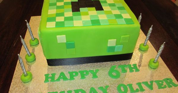 minecraft birthday cakes | Minecraft Creeper 6th Birthday cake — Children's Birthday