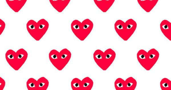 red heart pattern
