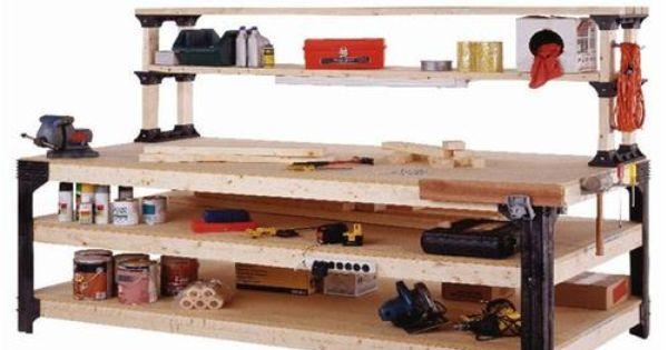2x4basics Workbench Legs And Shelf Links Workbench Legs Garage Organization Systems Garage Organization