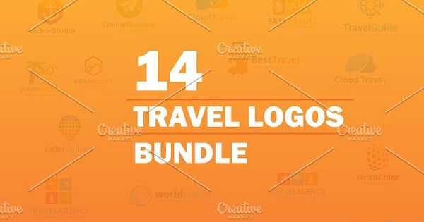 14 Travel Logos Bundle – unique, clean and professional templates