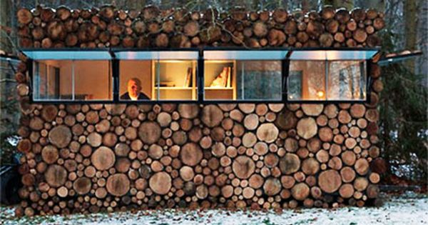 Wood House, Hilversum, Netherlands This mini-dwelling is disguised as a pile of