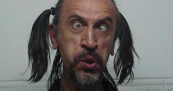 Cross Eyed Funny Looking Funny Memes About: ... Ugly Guy Rocking A Pair Of Pigtail
