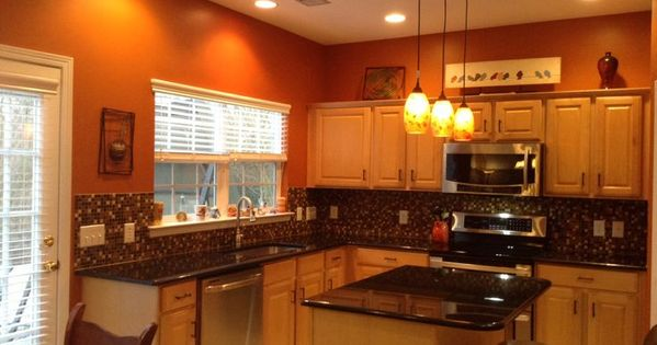 Burnt orange kitchen ideas burnt orange kitchen with new for Burnt orange kitchen cabinets