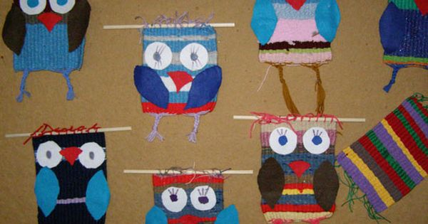 Eulen weben   Schule und Unterricht   Pinterest   Kindergarten