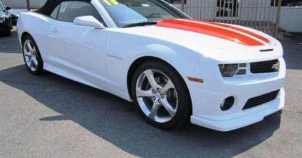 White Chevy Camaro With Red Stripe Chevy Camaro White Car Camaro