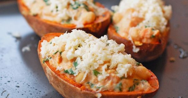 Healthy Sweet Potato Skins - could be side dish or main dish