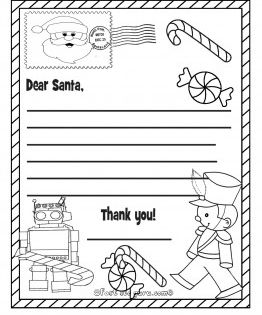 Free Printable Christmas Wish List Toys To Santa Claus For Kids