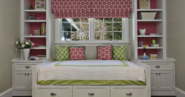 Fiorella Design: Sweet pink & green girl's bedroom with greige walls paint