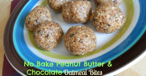 Chocolate oatmeal, Oatmeal bites and Oatmeal on Pinterest