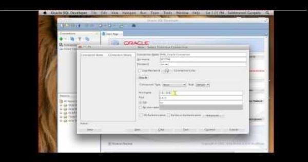 Connect To Oracle Database With Sql Developer For Mac Osx