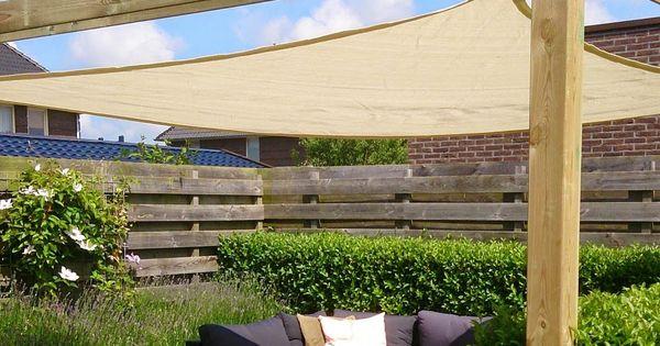 Beautiful outdoor space using shade sails canvas for shade - Pergola met intrekbaar canvas ...